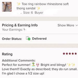 33e5efa90 Italina Shoes - Italina Rainbow Rhinestone Toe Ring Summer Sandal